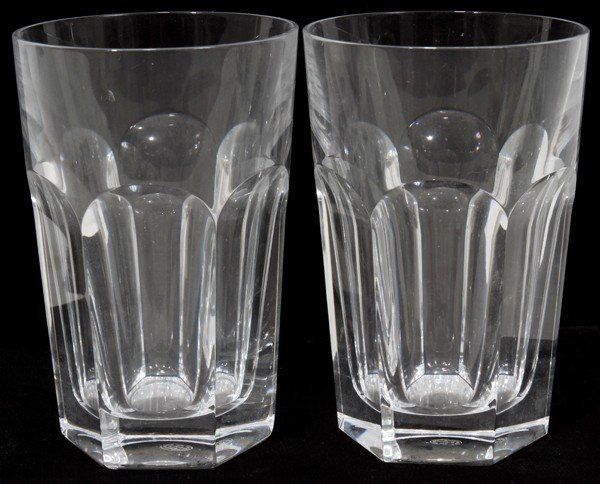 070010: BACCARAT 'HARCOURT' PATTERN CRYSTAL TUMBLERS,