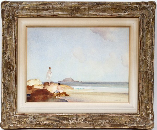 072011: SIR WILLIAM RUSSELL FLINT WATERCOLOR, MAIDENS