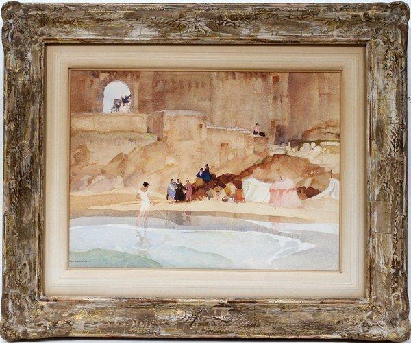 072012: SIR WILLIAM RUSSELL FLINT WATERCOLOR, ALGERIAN