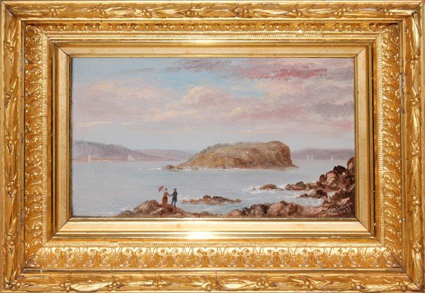 072018: JOHN O'BRIEN INMAN, OIL ON BOARD, DATED 1877,