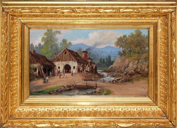 "072019: JOHN O'BRIEN INMAN, OIL ON BOARD, 1877, 5"" X 8"""