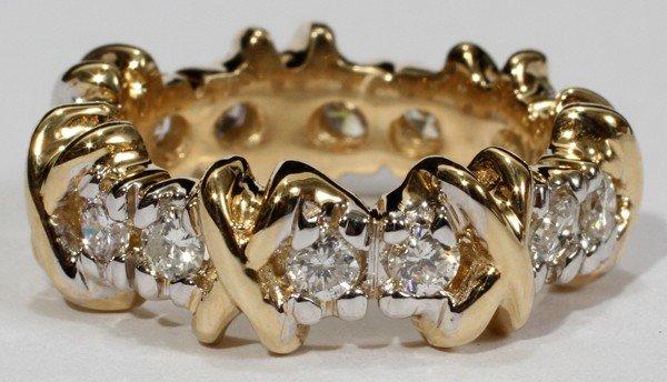 080002: 1.40 CT. DIAMOND 'X' ETERNITY RING