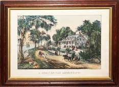 081236 CURRIER  IVES COLORED LITHOGRAPH 8 12