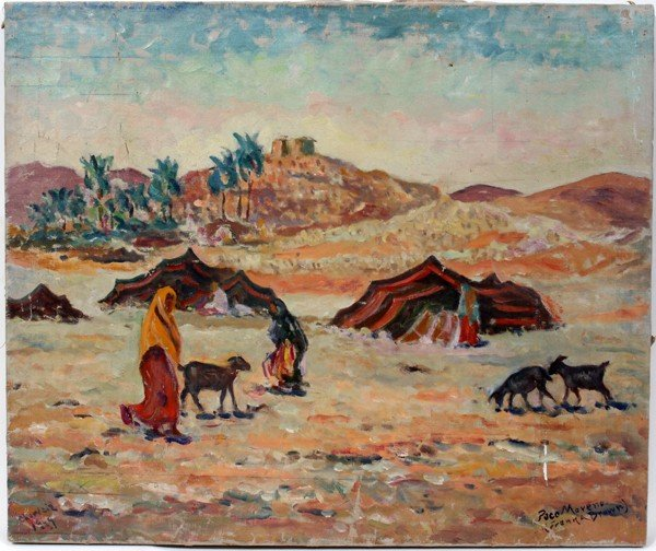 """082008: FRANK A. BROWN, OIL ON CANVAS, 1949, 21"""" X 25"""""""