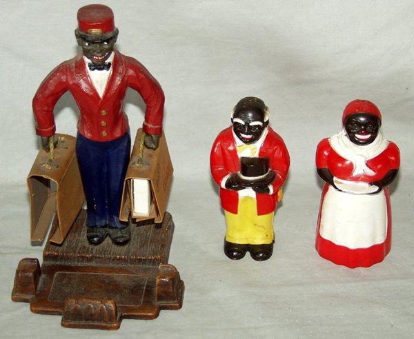 080510: AFRICAN AMERICAN POTTERY FIGURES OF PEOPLE