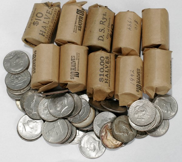 080067: USA SILVER 1/2 DOLLAR COINS, 1896-1969,  891