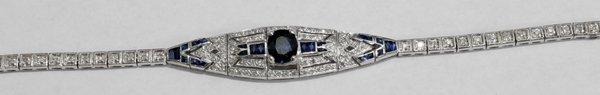 080002: SAPPHIRE, DIAMOND & GOLD BRACELET
