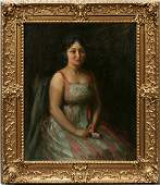 082001 CHARLES WALTENSPERGER OIL ON CANVAS LADY