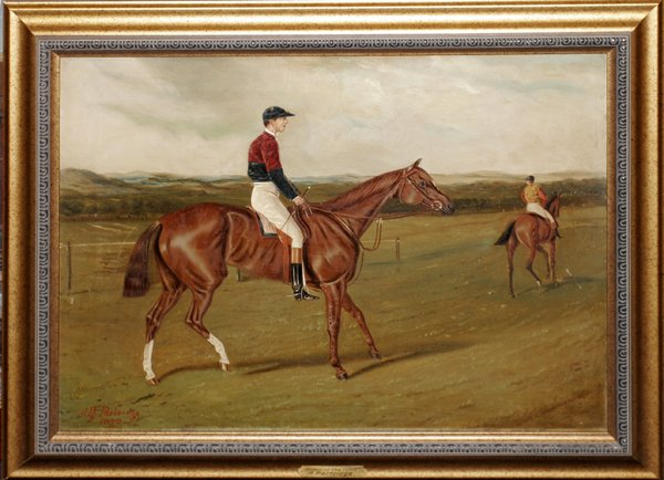082002: ALFRED A. PARTRIDGE, OIL ON CANVAS, QUEEN