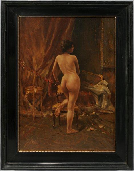 082004: JOSE MARIE BRACHO, OIL ON CANVAS, FEMALE NUDE
