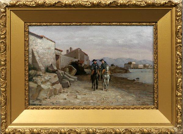082005: CHARLES H. TURNER, OIL ON CANVAS, COASTLINE