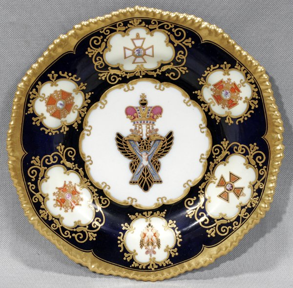 082376: RUSSIAN ST. PETERSBURG PORCELAIN CHARGER
