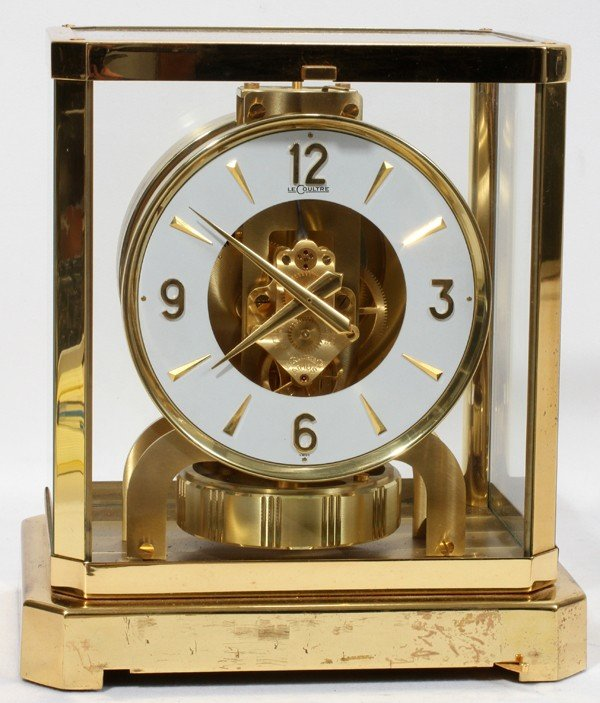 090023: LECOULTRE ATMOSPHERIC MANTLE CLOCK, MID 20TH C