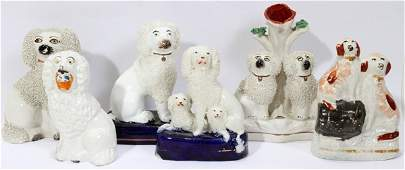 090376 STAFFORDSHIRE  STAFFORDSHIRE STYLE DOGS  VASE