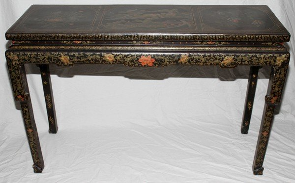091002: JAPANESE LACQUER ALTAR TABLE, C. 1810