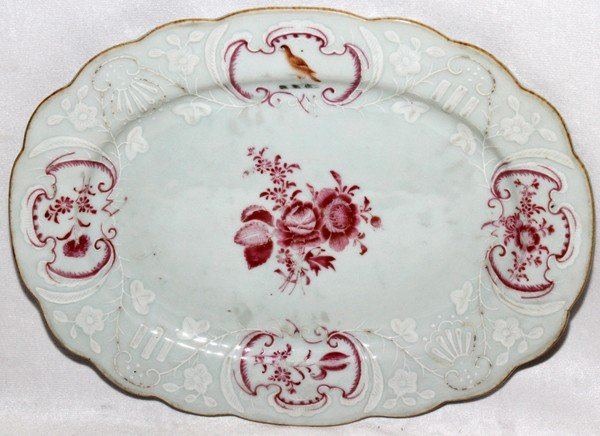 091016: CHINESE EXPORT PORCELAIN ARMORIAL PLATTER