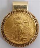 092071 SAINT GAUDENS D EAGLE 14KT GOLD 20 COIN