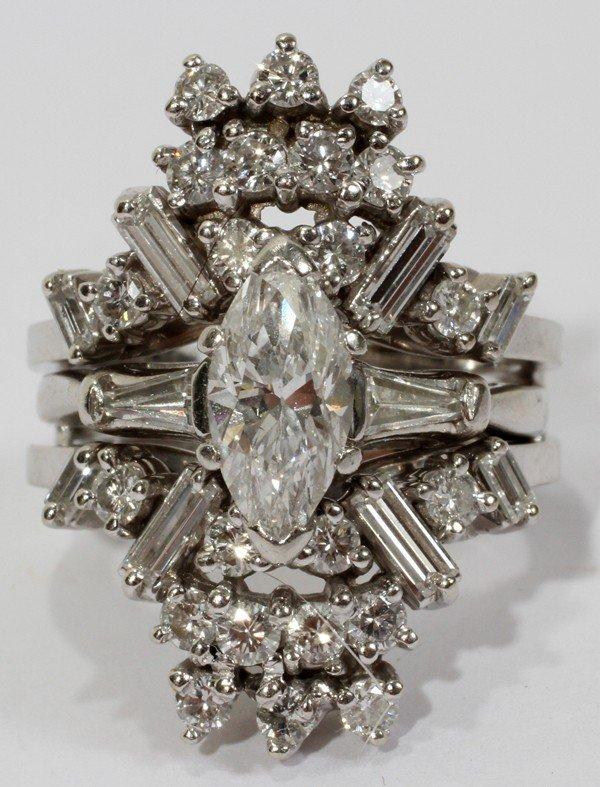 101012: MARQUISE DIAMOND RING IN GUARD PLATINUM SETTING