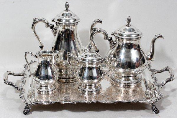 101023: INT. 'PRELUDE' STERLING TEA & COFFEE SET,