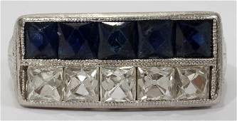 101317 PLATINUM  DIAMOND RING C 1920