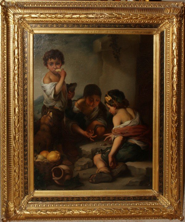 """102005: AFTER MURILLO, OIL ON CANVAS, 32"""" X 25"""","""