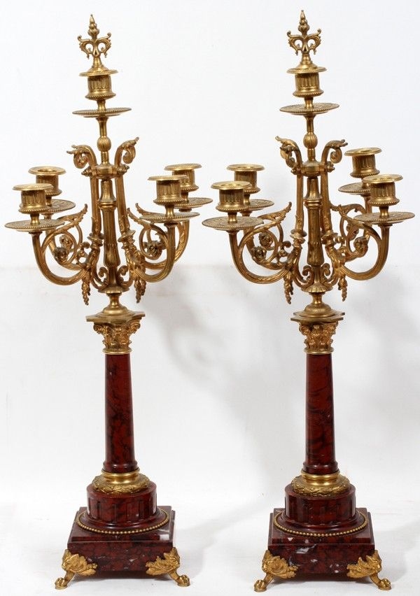 CONTINENTAL NEOCLASSICAL MARBLE & GILT BRONZE,