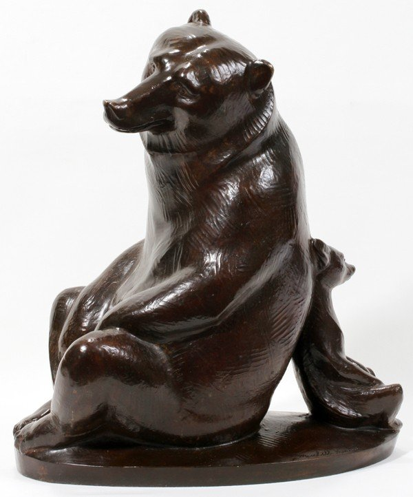 "110011: MARSHALL FREDERICKS BRONZE SCULPTURE, H 16"","