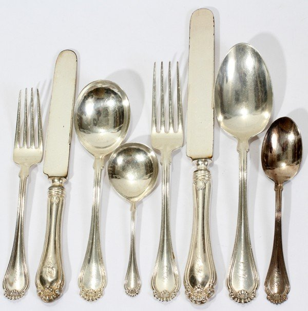 110015: WILLIAM KENDRICKS & SONS STERLING FLATWARE, 67