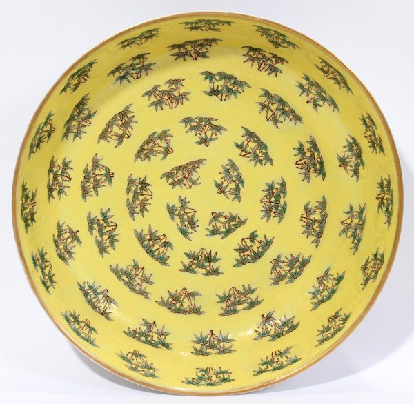 "110025: CHINESE PORCELAIN DISH, H 2"", DIA 8"""