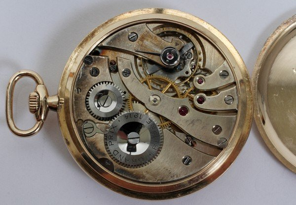 110055: MAPPIN YELLOW GOLD OPEN FACE POCKET WATCH,  - 2