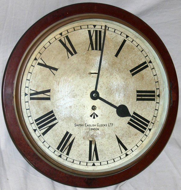 "110123: SMITH'S ""ENGLISH CLOCKS"" ROUND WALL CLOCK,"