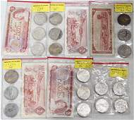 110393: U.S. MORGAN, PEACE ONE DOLLAR STERLING COINS +