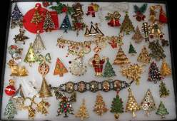 110397 CHRISTMAS COSTUME JEWELRY COLLECTION 45 PIECES