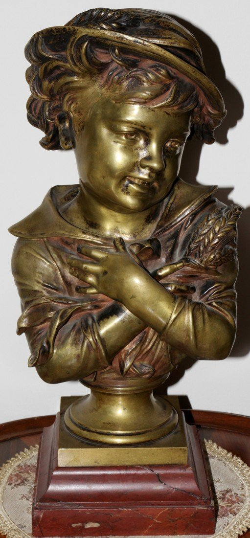 112004: VAN RADBOURG, BRONZE SCULPTURE, 19TH C.