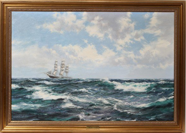 112010: MONTAGUE DAWSON 1895-1973 OIL/CANVAS