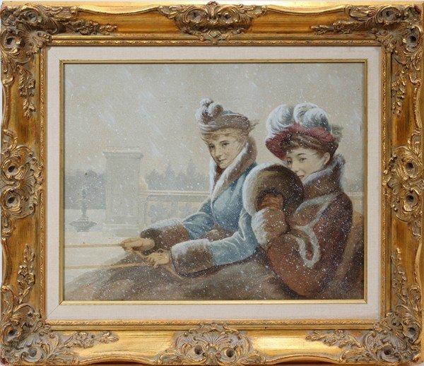 112013: JEAN BERAUD (1849-1936) WATERCOLOR & GOUACHE