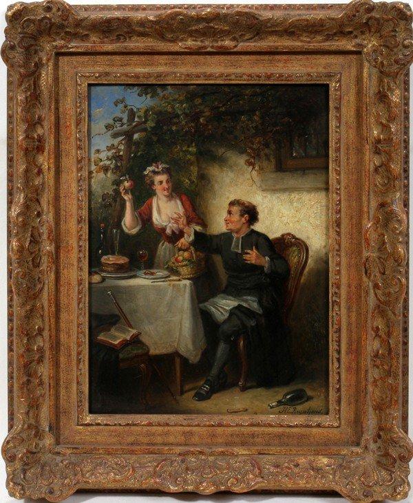 112015: HENRICUS E. REYNTJENS (1817-59), OIL/BOARD