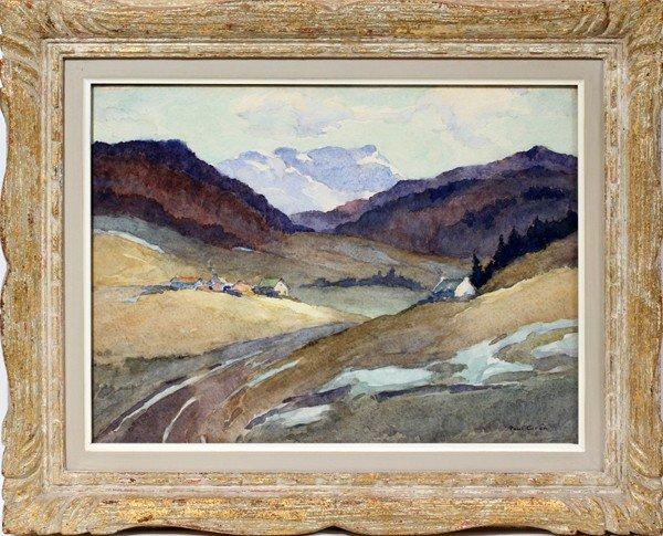112016: PAUL A. O. CARON [CA 1874-1941], WATERCOLOR