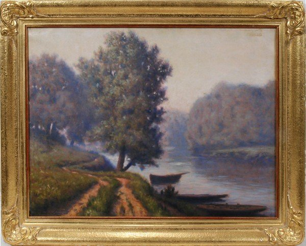 112018: MAURICE CHABAS [1862-1947], OIL/CANVAS