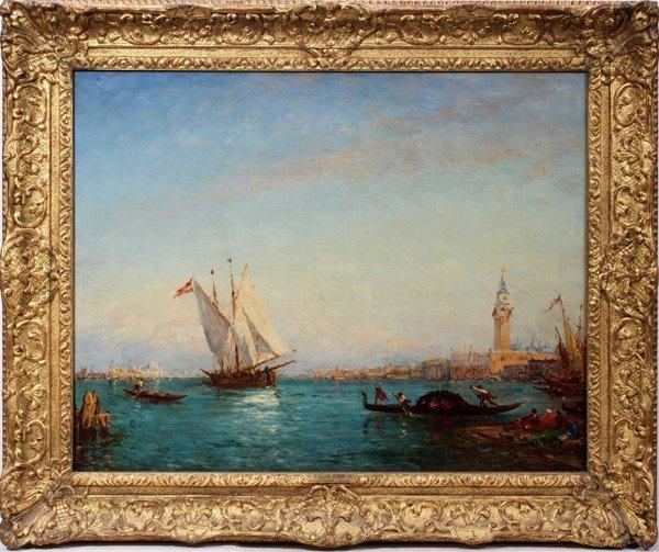 112020: FELIX ZIEM (1821-1911) OIL/WOOD PANEL