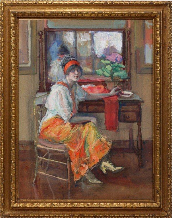 112022: JANE PETERSON (1876-1965)GOUACHE