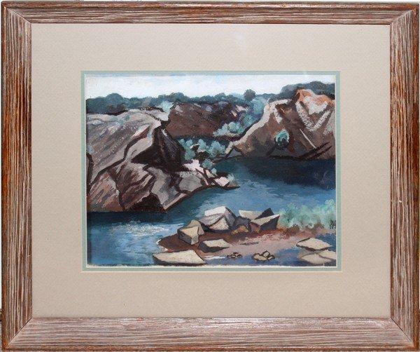 112023: MARSDEN HARTLEY (US 1877-1943) GOUACHE/PAPER