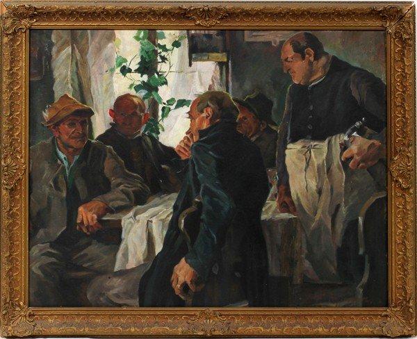 112025: FRANK B. HOFFMANN (1888-1958), OIL/ARTIST BOARD