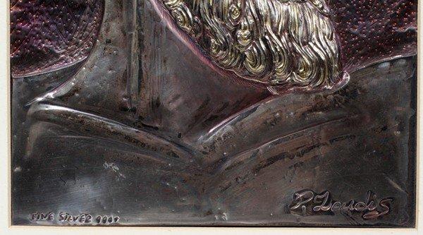 112523: PETER ZOUDIS,+ SILVER W/18KT RELIEF PLAQUE - 2