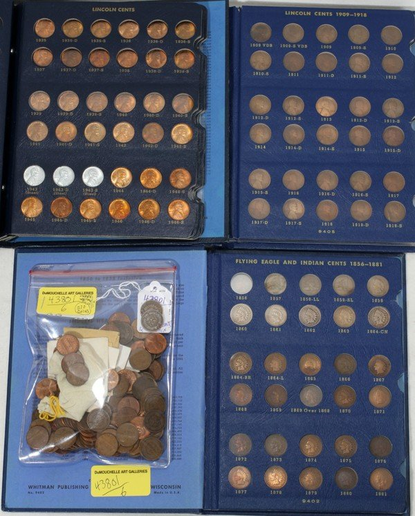 120371: US BLUE WHITMAN INDIAN HEAD LINCOLN CENTS
