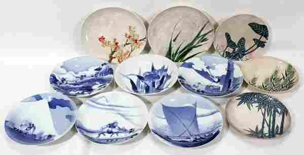 JAPANESE ARITA BOWLS & SATSUMA STYLE PLATES