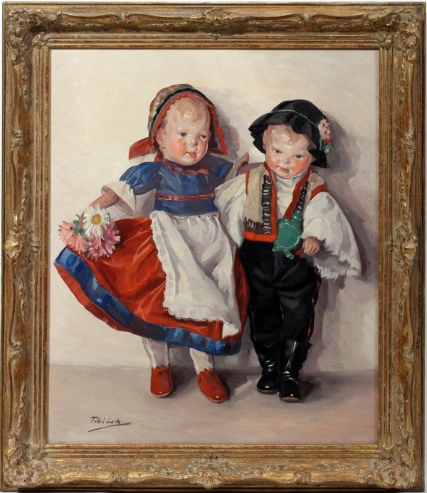 """122011: FEHER LOLLY (HUNGARIAN) OIL/CANVAS, 24"""" X 20"""""""