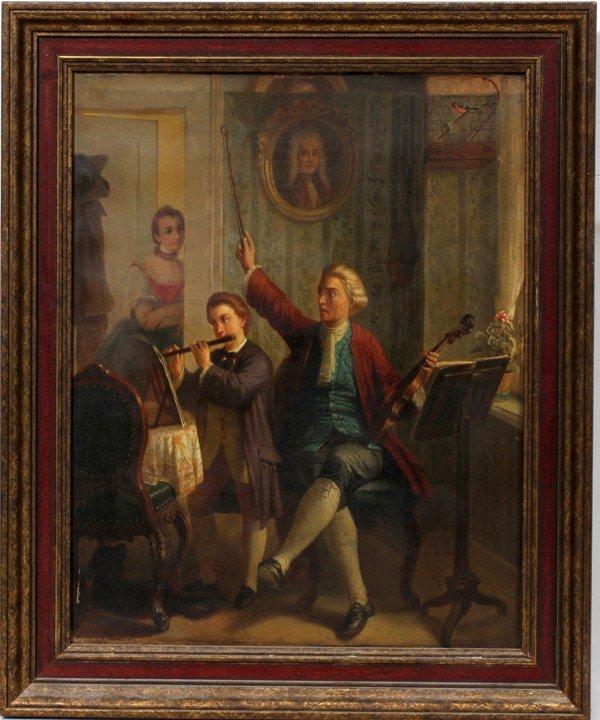 122016: AFTER J. DORN  (1759 - 1841), OIL ON CANVAS