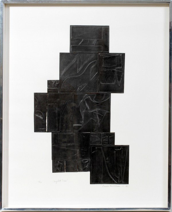 122023: LOUISE NEVELSON (1889-1988) LEAD INTAGLIO
