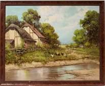 122072: LASZLO NEOGRADY (1896-1962), OIL ON CANVAS,